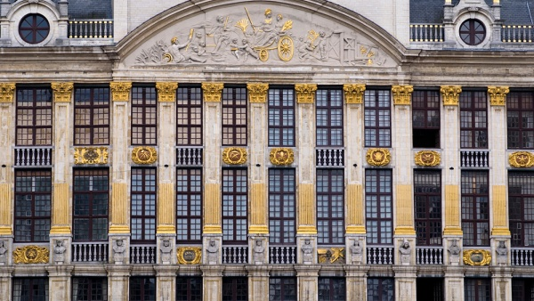 The square Grande Place is the central square of Brussels