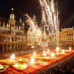 New Year's Eve party in the center of Brussels