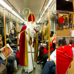 St Nicholas will hand out sweets to children in Brussels metro