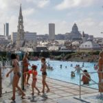 Outdoor public swimming pool in Brussels