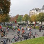 The number of cyclists in Brussels grew up