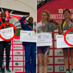 The same amount of prize money for men and women marathon winners